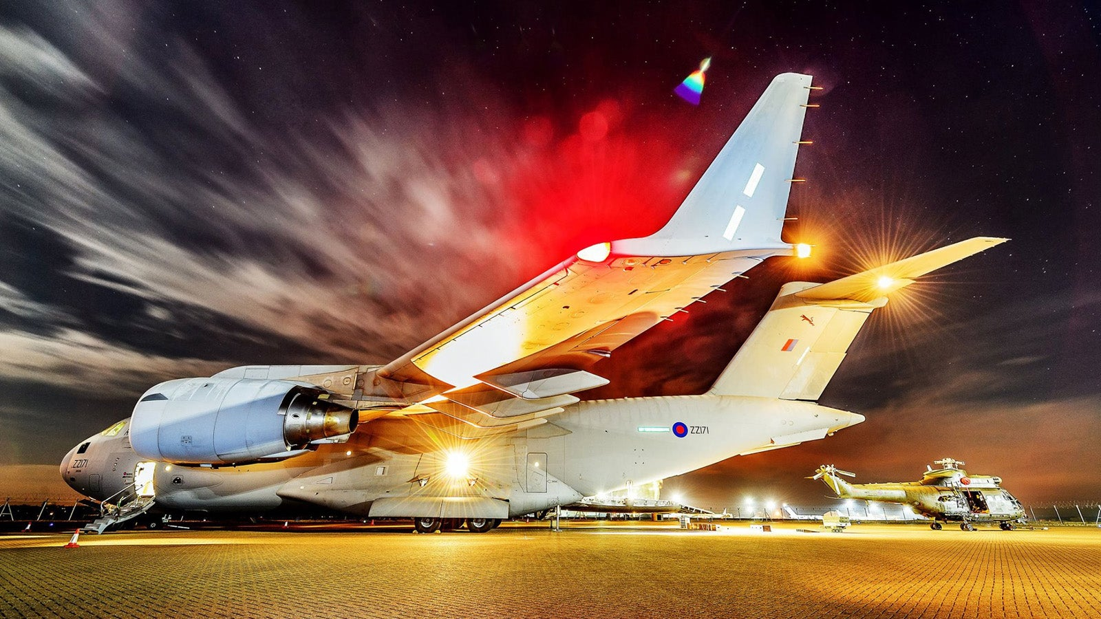 Spectacular Night Photos of the New Puma Helicopter