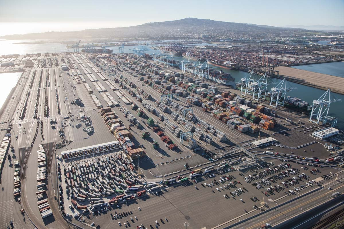 This Is What Gridlock at the Biggest Port In America Looks Like