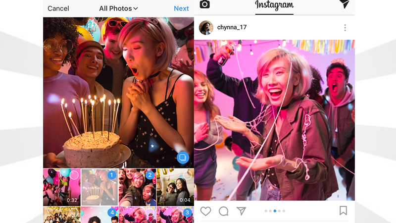 Instagram Will Let You Upload 10 Photos Into Miniature Galleries