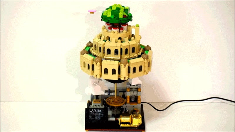 Laputa LEGO Castle Is Also a Tiny Music Box