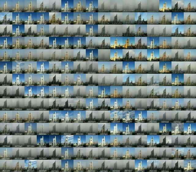 365 days of Beijing pollution in one megamosaic