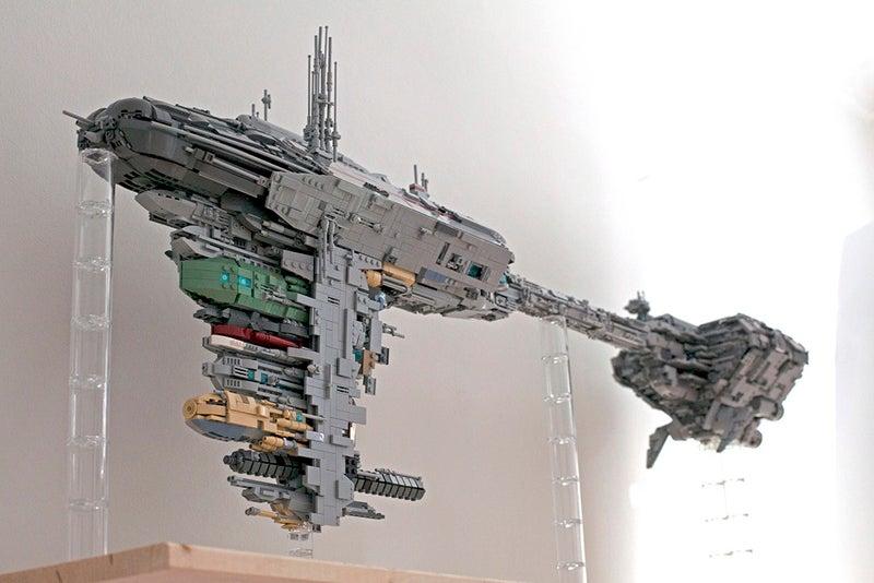 Star Wars' Giant Medical Frigate, In LEGO Form