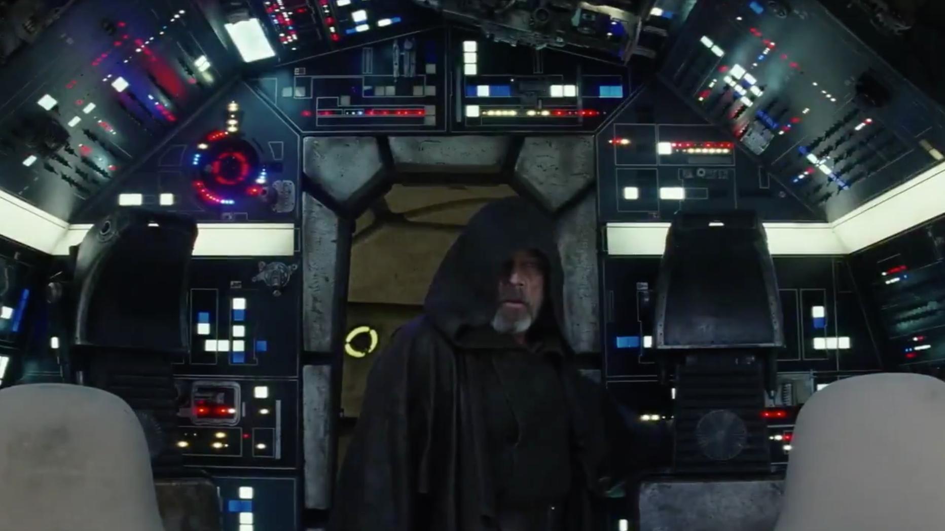 Luke Is Back On The Falcon In New The Last Jedi Clip