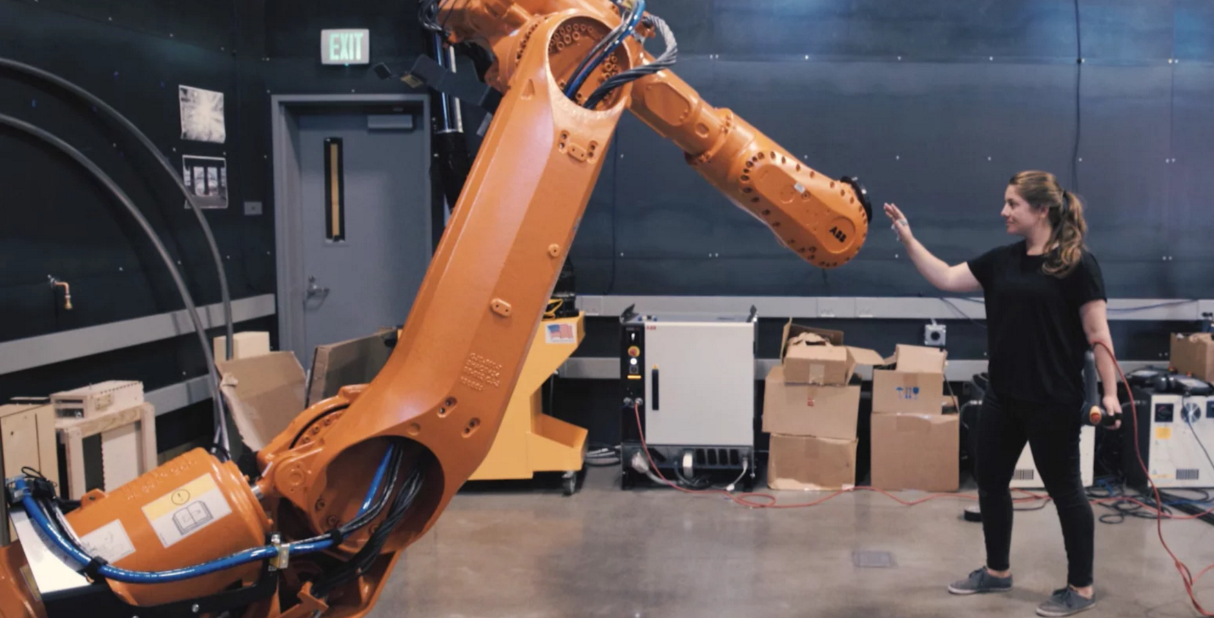 Watch A Robot Tamer Control Industrial Machines With Simple Gestures
