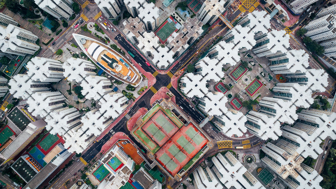 Hong Kong Looks Beautifully Uncanny When Seen From The Sky