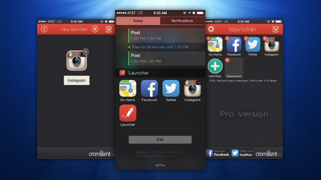 Launcher Puts Your Favourite Apps and Contacts In Notification Center