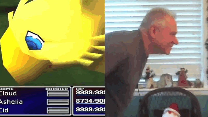 Goofy Dad Recreates Final Fantasy VII Summons With His Butt