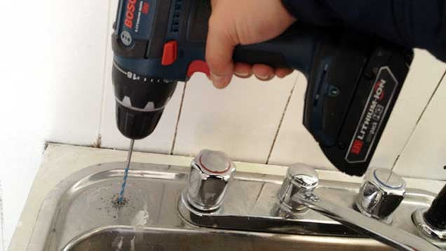 How to Drill Into a Stainless Steel Sink