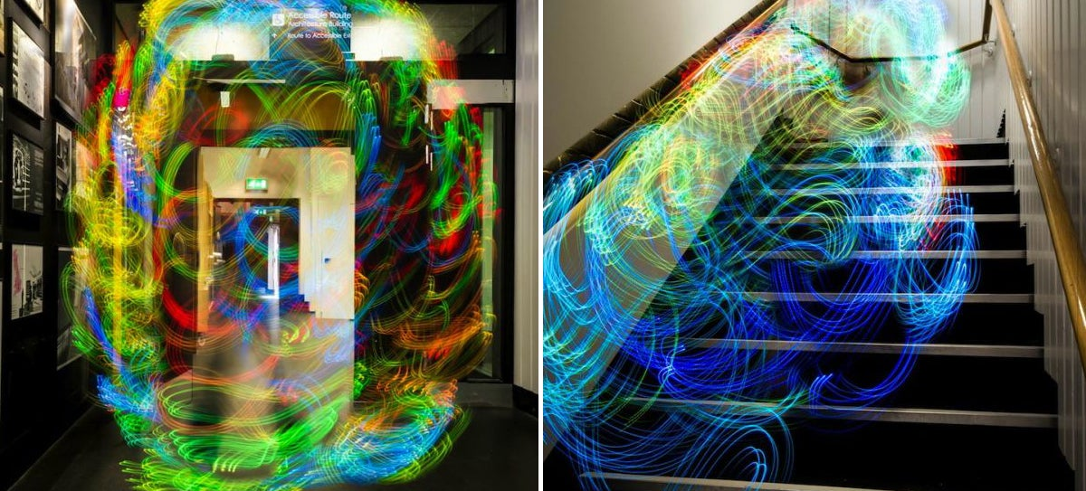 These Light Paintings Show How Wi-Fi Swirls and Shifts Around You