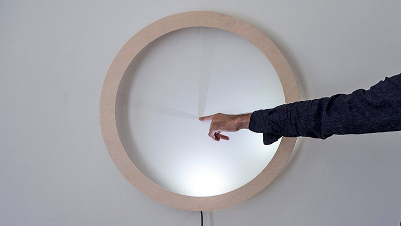 Pointing at This Glowing Clock Isn't Rude, It's the Only Way to Display the Time
