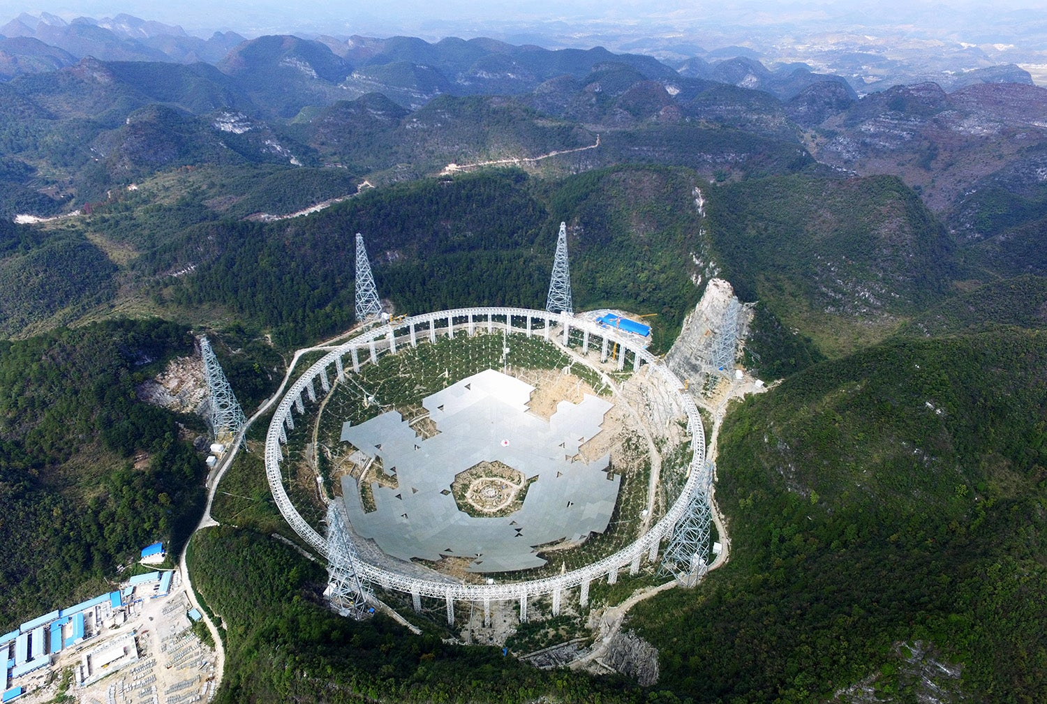 The World's Largest Radio Telescope Dish Is Taking Shape Like a Giant Puzzle
