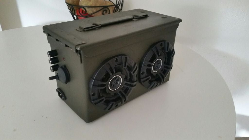This DIY Bluetooth Boombox Is Made From An Old Ammo Container