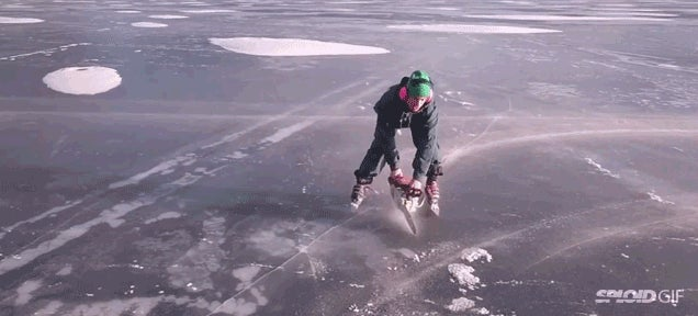 Chainsaw ice skating looks both fun and insanely dangerous