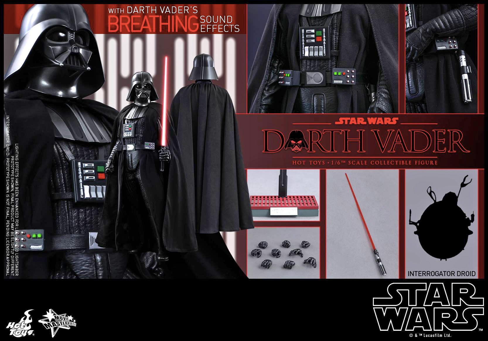The Definitive Darth Vader Figure Even Has His Iconic Breathing Sounds