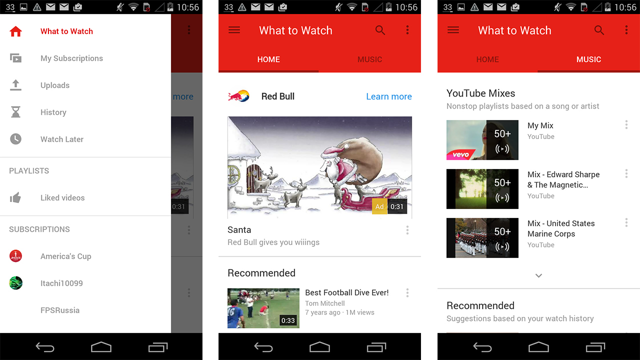 YouTube's Had A Material Design Makeover