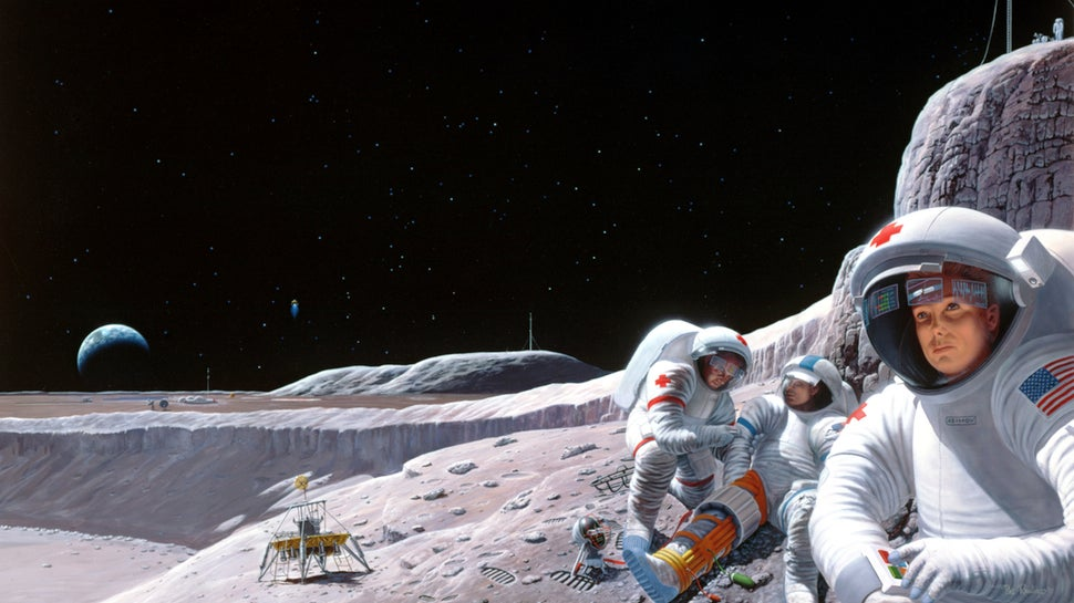 This Is How NASA Imagined Futuristic Medics on the Moon in 1992