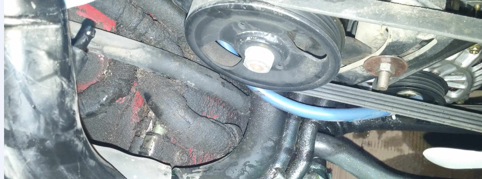 Heres What It Cost To Buy And Rebuild A Nissan 300zx Twin Turbo So Is This Basically Power Steering Pump As With Any Ageing Hydraulic System Leaks Begin Develop One Of The Hardest Things Track Down Leak In Cramped Engine Bay Like