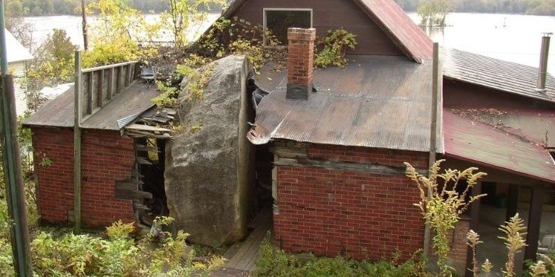 This House Was Designed Around The Rock That Almost Killed Its Owners