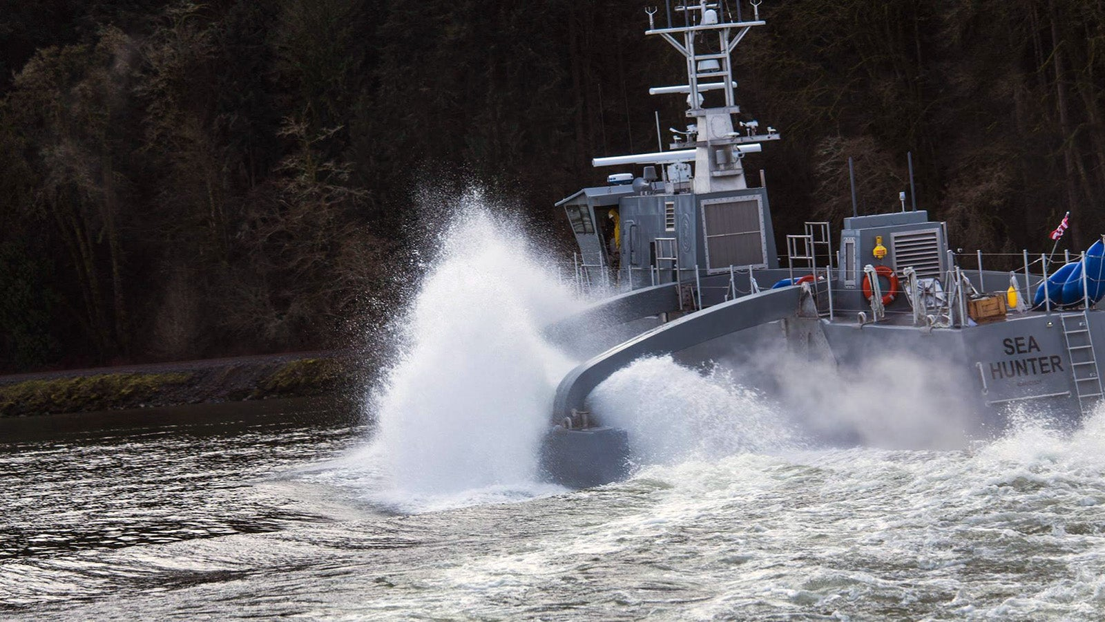 DARPA's Submarine-Destroying Drone Ship Is Called 'Sea Hunter'