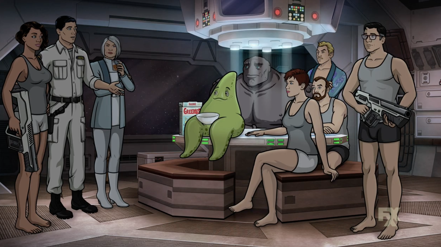 The First Look At Archer: 1999 Promises Cheeky Action In Outer Space