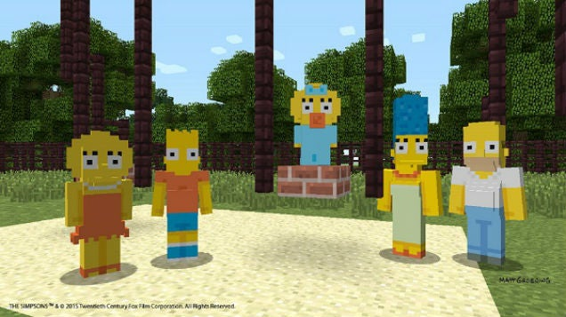 Official Minecraft Simpsons Somehow Look More Deformed Than Fan Ones