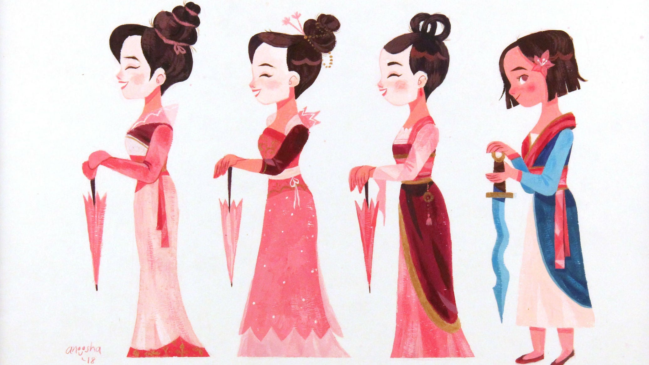 Celebrate The 20th Anniversary Of Mulan With This Beautiful Art Show