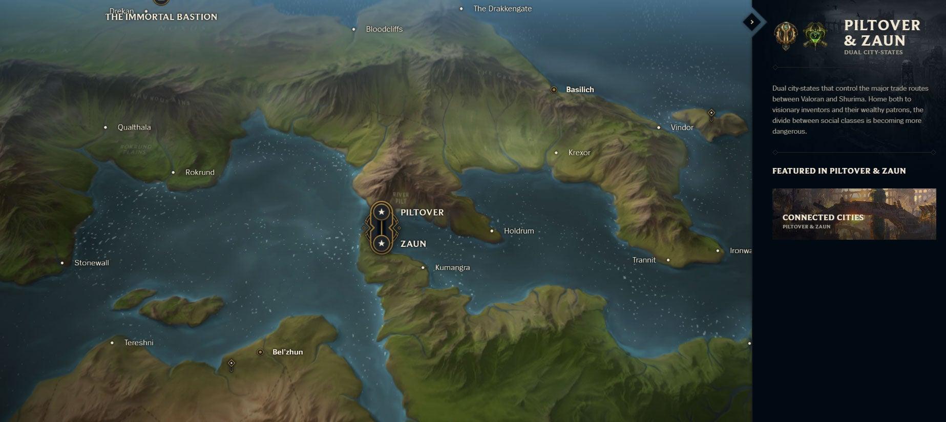 League Of Legends\' Lore Finally Has A Proper World Map   Kotaku ...