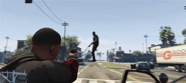 GTA V + Gravity Gun = Tomfoolery
