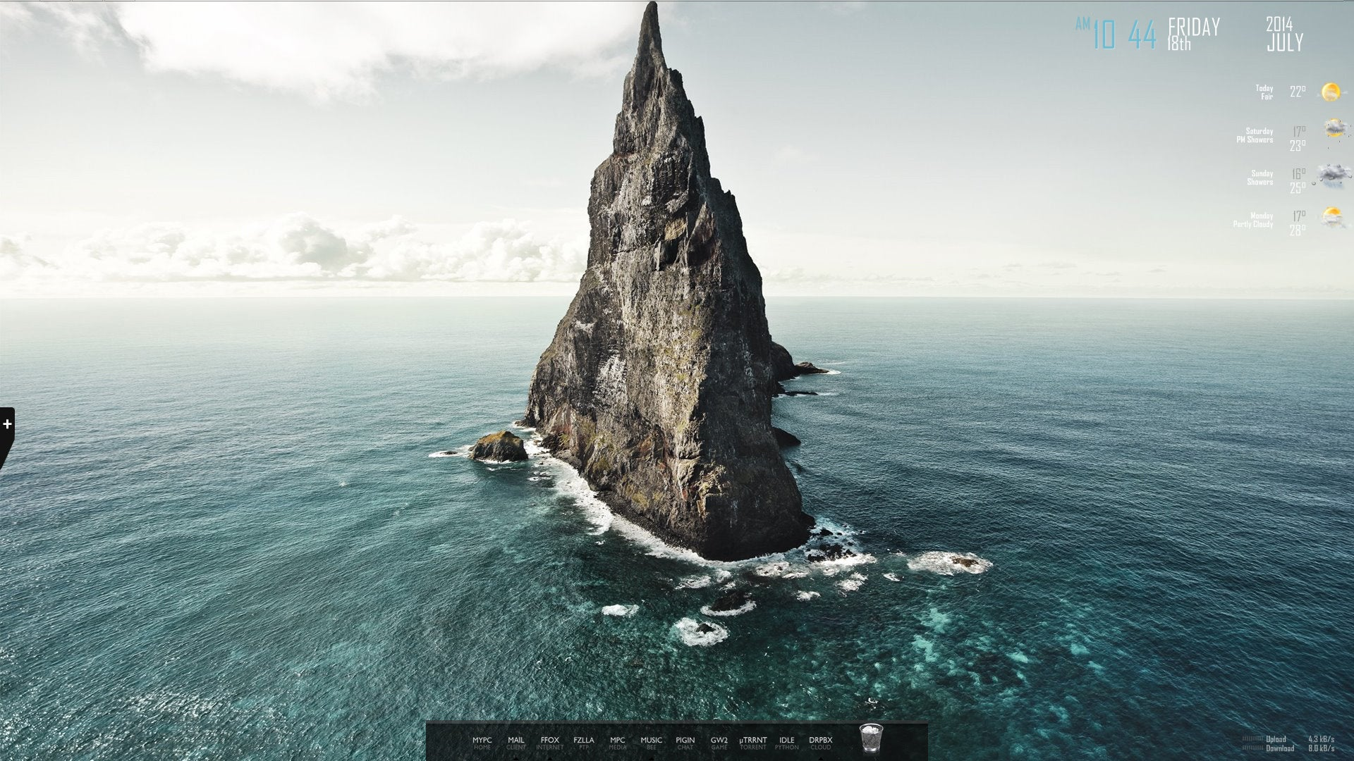 The Lonely Rock Desktop