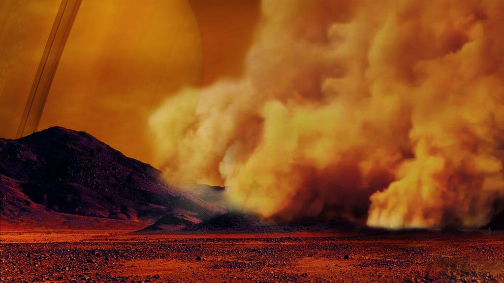 Scientists Have Detected Enormous Dust Storms On Saturn's Moon Titan