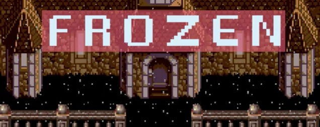 Frozen as an 8-bit video game is super fun because of its 8-bit songs