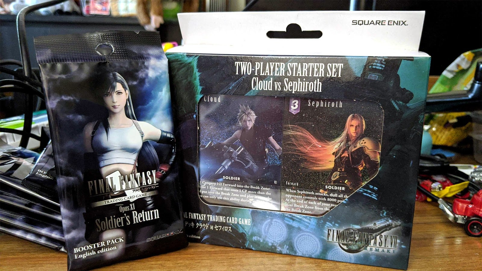 Cloud And Sephiroth Face Off Again In The Final Fantasy VII Remake Card Game Set