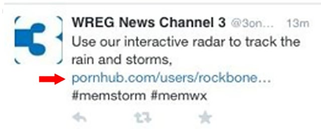 The #1 News Station in Memphis Accidentally Tweeted a Pornhub Link