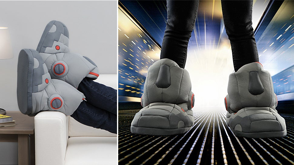 Giant Robot Sound Effect Slippers Make Your Cyborg Fantasies Come True