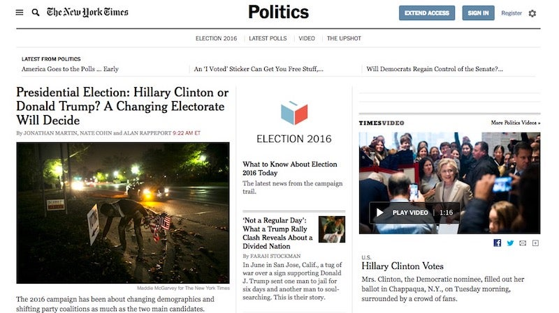 All The US Newspapers And Pay TV Channels Giving Free Access For Election Day Coverage