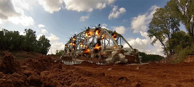 Watch a Bridge Explode in Super Slow Motion