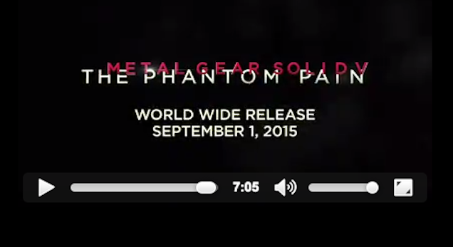 Metal Gear Solid V Will Be Out September 1