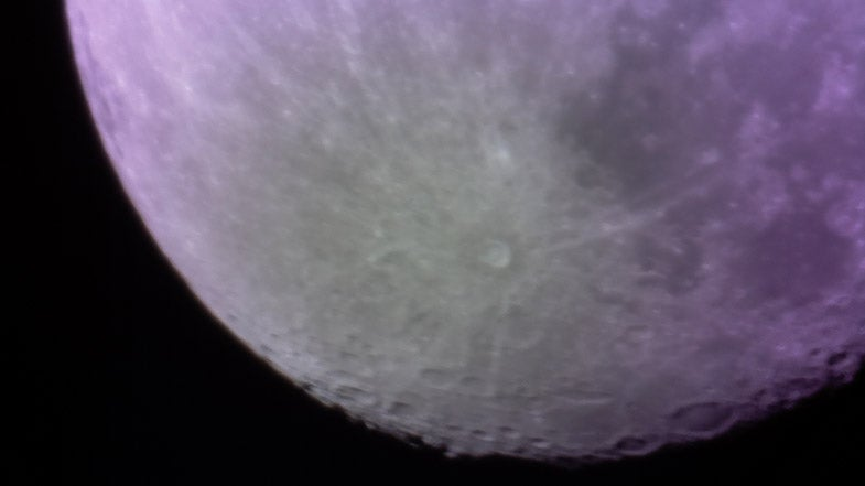 This Shot of the Moon Is the First Photo Taken By a 3D-Printed Telescope