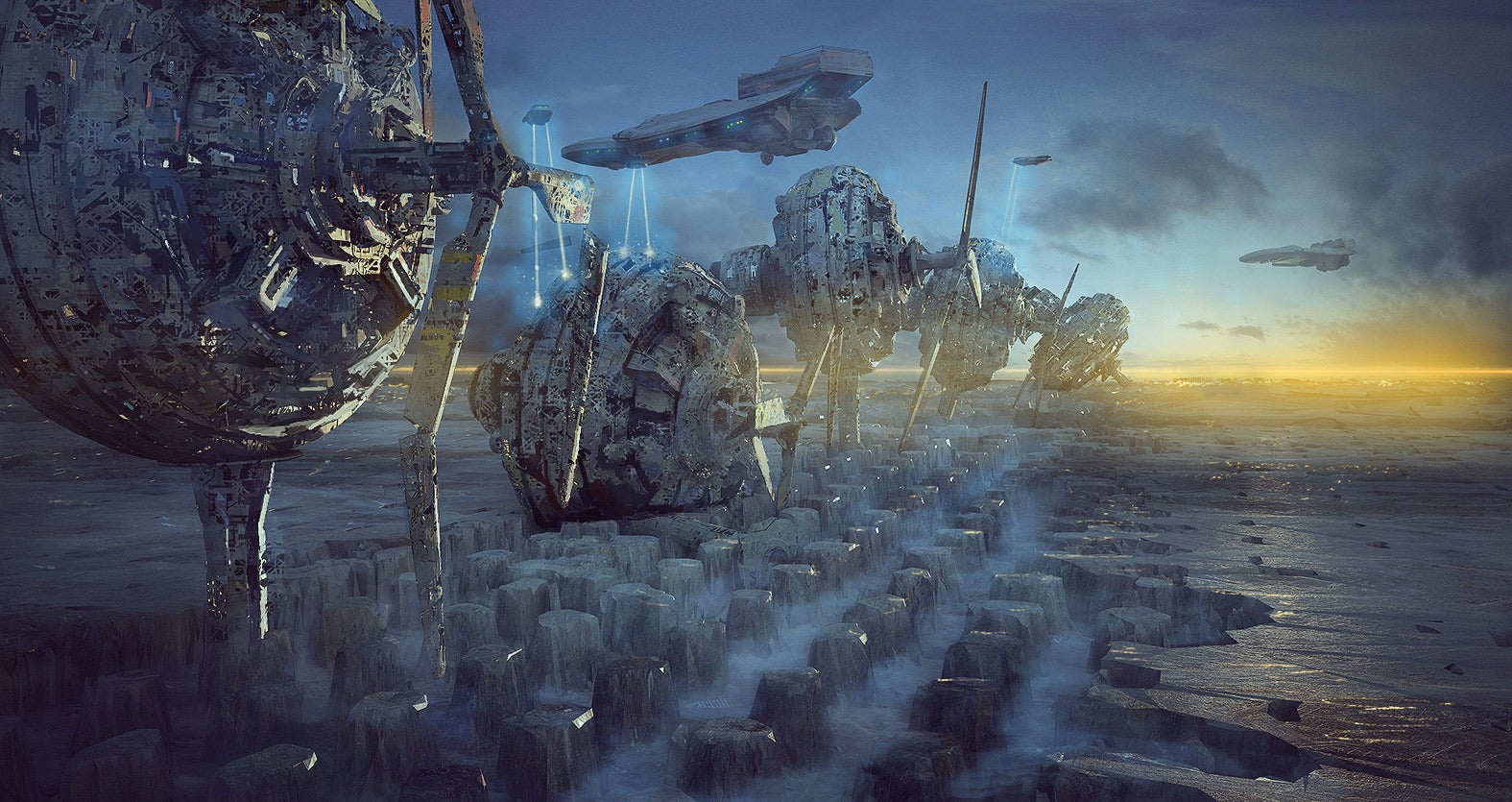 Stunning sci-fi concept sketches are actually 3D renders