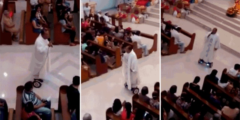 Priest Suspended For Hoverboarding in Church