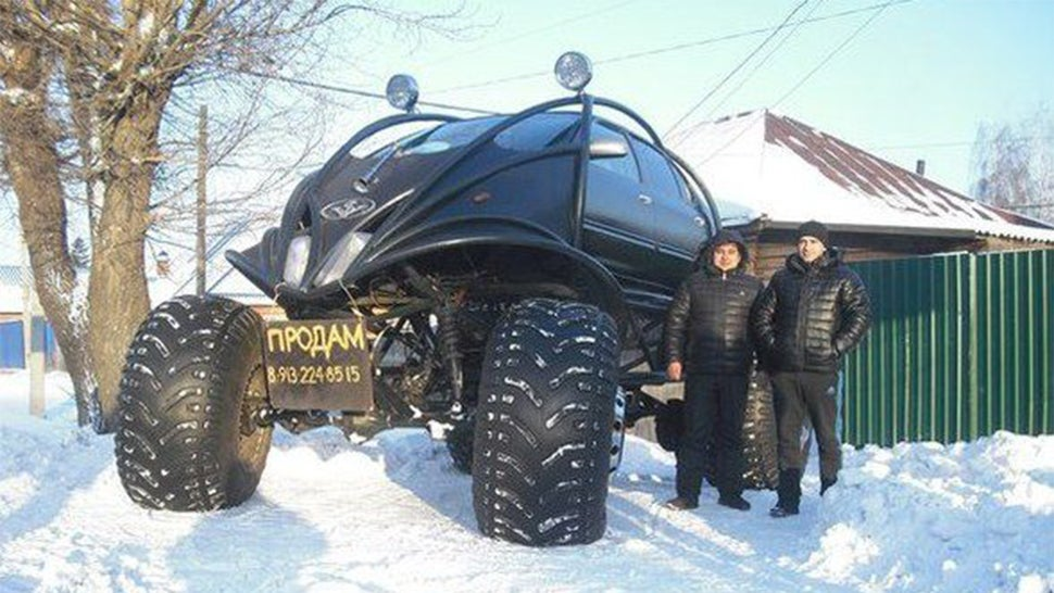 What the hell is this giant Russian car?