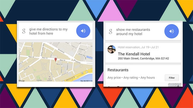 Ask Google Now For Directions 'To My Hotel' Or Nearby Restaurants