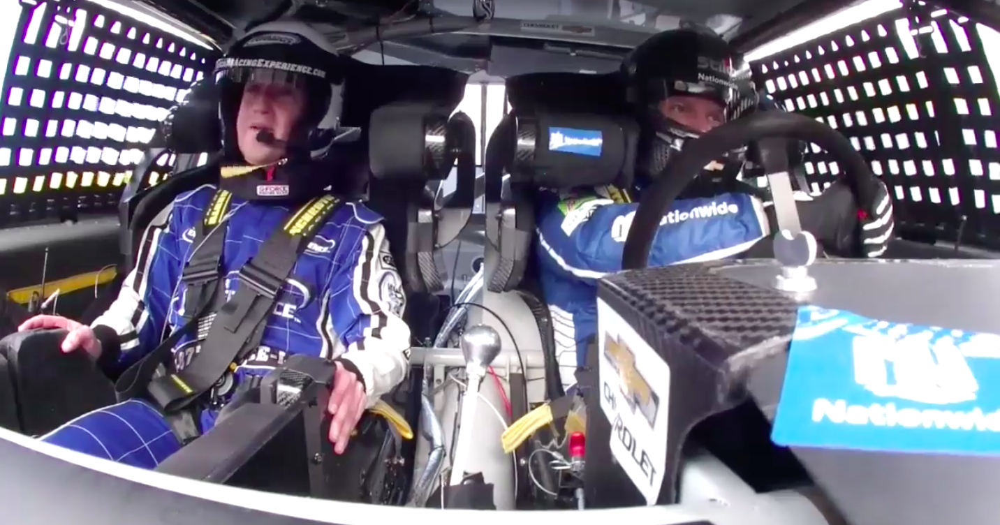 Mark Zuckerberg Takes Scary Ride With Dale Earnhardt Jr