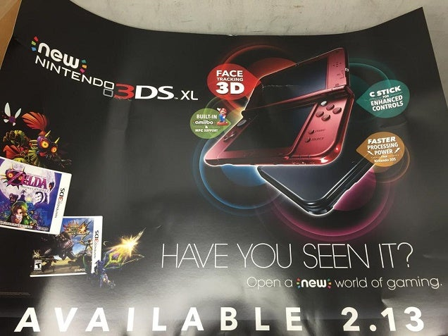 Looks Like The New 3DS Is Coming Out Next Month