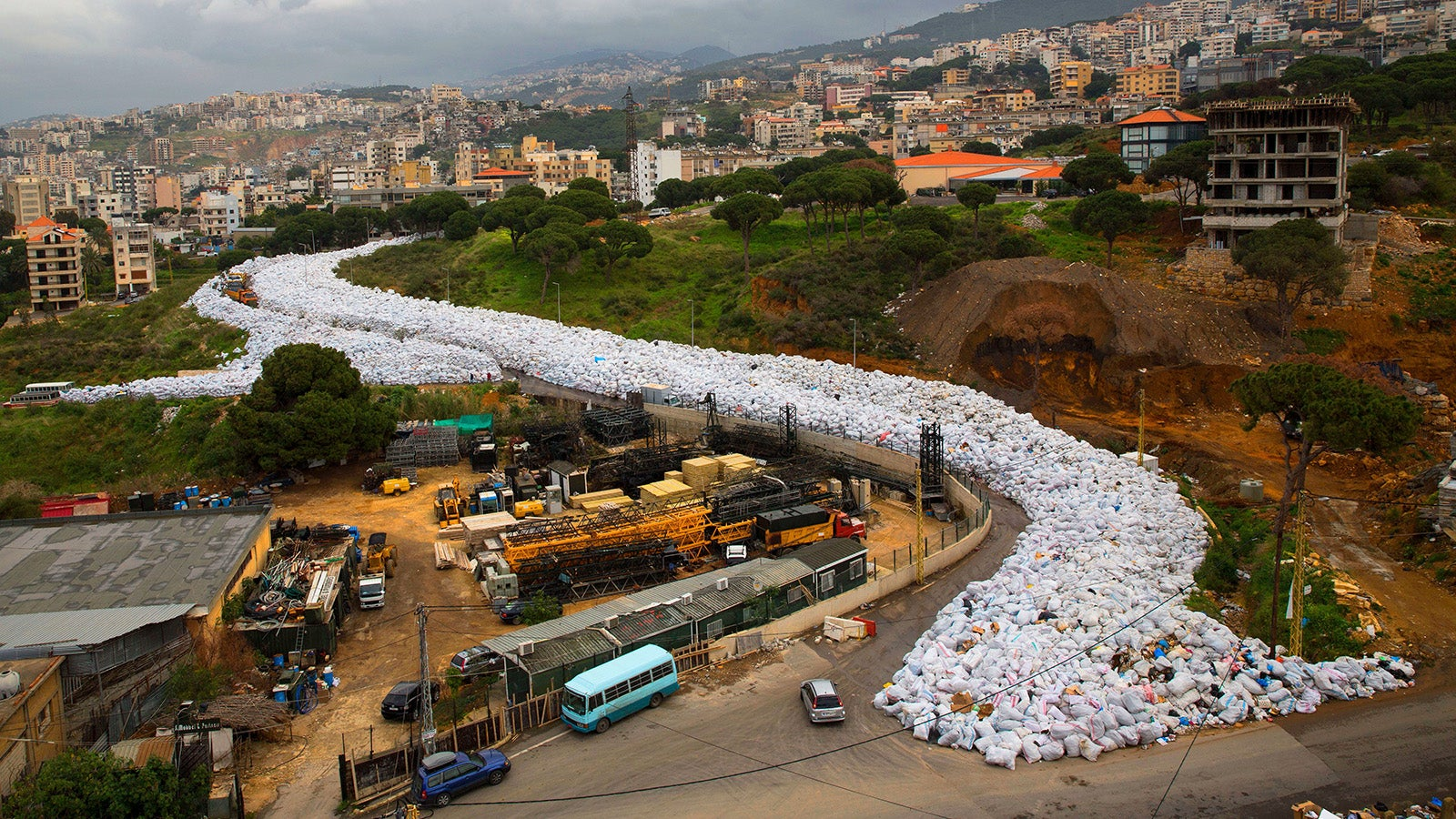 This Street in Beirut Is Completely Made of Trash Bags