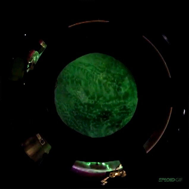 The entire planet seems shrouded in one aurora in this space video