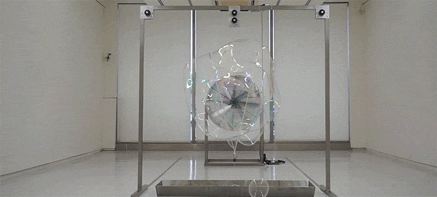Your Inner Child Will Be Jealous Of This Giant Automated Bubble-Making Machine