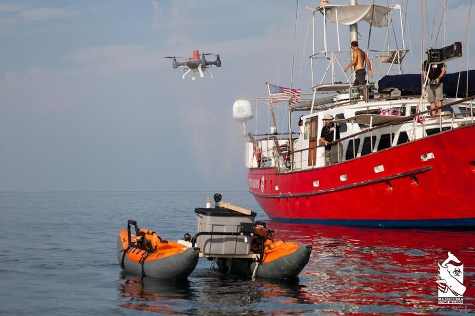 Monster Machines: This Dunkable Drone Will Suck Up Whale Snot For Science