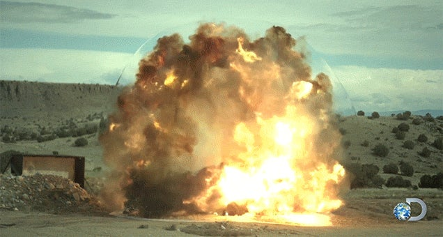 The Intense Shockwave of Flattening a Car into a Pancake with Explosives