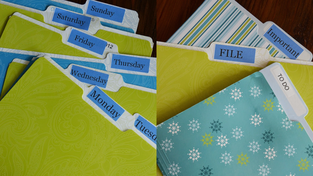 Use the 10-Folder System to Organise All Your Paper Clutter